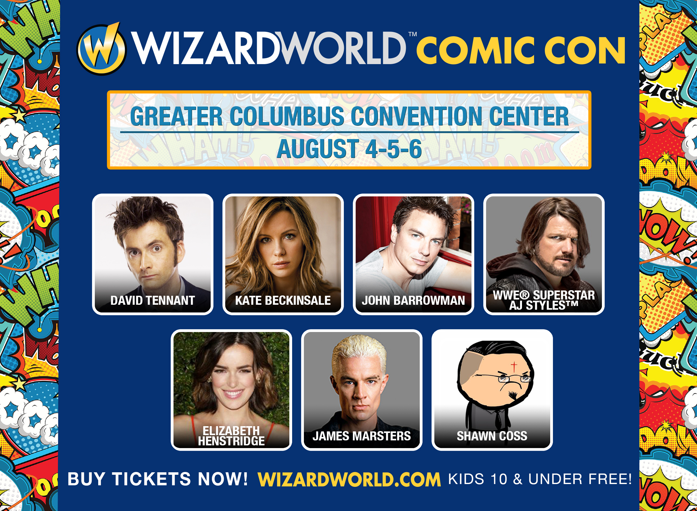 Wizard World Columbus Comic Con Guests